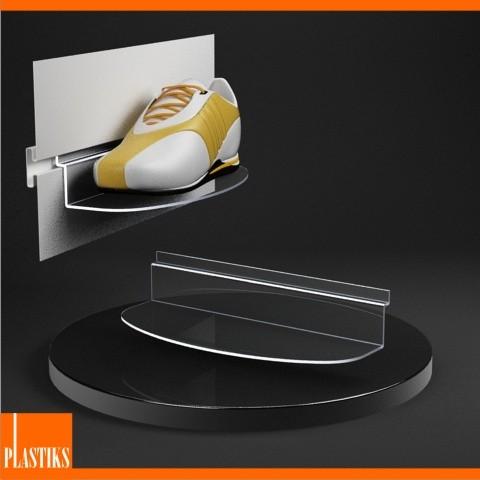 Mensola per parete a doghe espositore per calzature - Supporti per specchi a parete ...