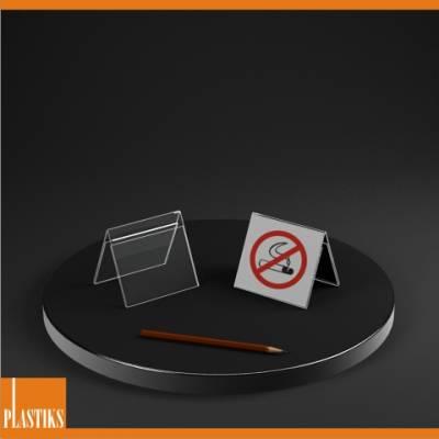 Espositore banco info prezzo in plexiglass porta avisi depliant tavolo foglio A7